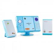 V-12 Aparelhagem Estéreo Leitor de MP3 e CDs USB SD AUX Azul Autocolantes