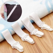 Meco 4x Bed Sheet Grippers Clip Holder Fasteners Set Elastic