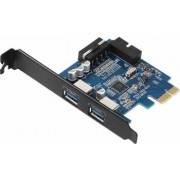 Adaptor Orico PVU3-2O2I 1x PCI-E Male - 2x USB 3.0 Female PCI-Express Card