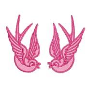 Parche golondrinas rosas
