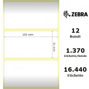 Etichette Zebra - Z-Ultimate 3000T White, formato 102 x 51