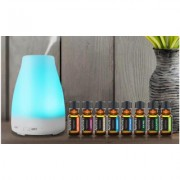 Aesthetics Ultrasonic Cool-Mist Aroma Diffusers with Optional 8-Pack Oils Peak Diffuser with 8-Pack Essential Oils