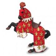 Figurina Papo - Calul Printului Filip rosu