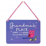 hang-ups! - tinnen bordje - grandma's place