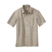 Dorani linnen vintage-overhemd, 52 - zandkleur