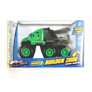 Maisto Builder Zone Quarry Monster Tow truck Green