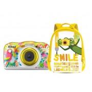Aparat Foto Digital NIKON Coolpix W150, 13.2MP, Zoom Optic 3x, Wi-Fi cu rucsac (Resort)