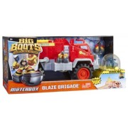 Toy / Game Mattel Matchbox Big Boots Blaze Brigade Fire Truck Vehicle - They're Always Ready To Save The Day