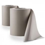 Pureview Inkijkbescherming PVC 2 rollen 35m x 19cm 60 Klemprofielen lichtgrijs