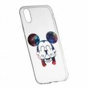 Husa Silicon Transparent Slim Mini Mouse FU Apple iPhone X