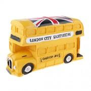 Magideal Random British Style London Double-decker Bus Money Box Piggy Bank Kids