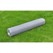vidaXL Plasă de gard din oțel galvanizat 1x10 m ochi pătrat grosime 0,75 mm