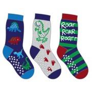 3-PACK Sockiplast Dinosaur Socks: 19-21
