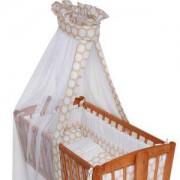 Спален комплект за бебешка люлка Lorelli First Dream, Бежови кръгове, 0746917
