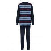 Babista herenmode Pyjama Roger Kent marine/lichtblauw/rood