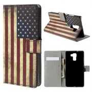 Huawei Honor 7 - Flip hoes, cover, case - PU leder - PC - USA Vlag