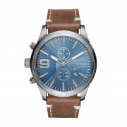 Часовник DIESEL - Rasp Chrono 50Mm DZ4443 Brown/Silver