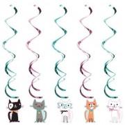 Merkloos 10x Katten/poezen feest hangdecoratie