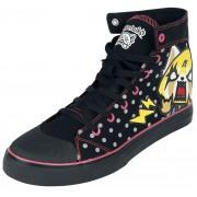 Aggretsuko Day Night Damen-Sneaker high - Offizieller & Lizenzierter Fanartikel EU37, EU38, EU39, EU40, EU41, EU42 Damen