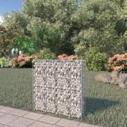 vidaXL horganyzott acél gabion fal felső zárással 80 x 20 x 100 cm