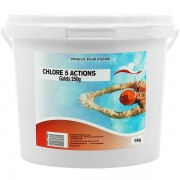 Swimmer Produits chimiques Chlore 5 actions galets 250 g - 1x5kg - Swimmer