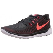 Nike Men's Free 5.0 Anthracite,Bright Crimson,University Red,Hot Lava,White Running Shoes -11 UK/India (46 EU)(12 US)