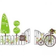 TipTop Wall Stickers Cartoon Tree och staket