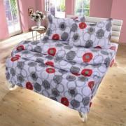 Спален комплект CIRCLES red & gray - 100% Памук