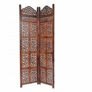 Shilpi Handicrafts Wooden Room Divider Screen Partition Made in Mango Wood Frame Jali in MDF Panel 2
