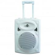Boxa activa portabila Ibiza difuzor 20CM USB MP3 PORT8VHF-BT WH