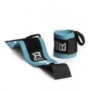 Better Bodies Womens Wrist Wraps One Size Aqua/White