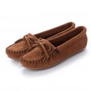 ミネトンカ Minnetonka KILTY Suede Moccasin Shoes (ダークブラウン) レディース