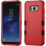 Funda Case Para Samsung S8 Doble Protector De Plástico Super Resistente TUFF Uso Rudo - Rojo Con Negro