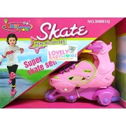 Rey N Ran Super Skate Set | kids high quality skate set Roller Skates 4 wheel for kids Gift Toy Adjustable For Kids Skating