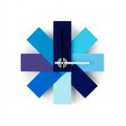 Normann Copenhagen - Watch me Wanduhr, blau