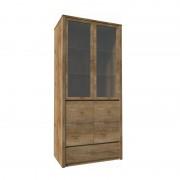Vitrína s jednou zásuvkou dub lefkas MONTANA W2D
