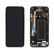 Ecran Display cu rama Samsung Galaxy S8 Plus G955f Negru cu Burn reconditionat