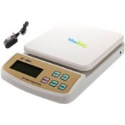 Billionbag Fine & Durable Ultra Light Electronic Digital SF 400A with Adaptor 10 Kg Best Qualtiy Kitchen Use Weighing Scale(White)