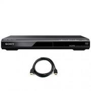 Sony DVPSR510H Reproductor de DVD con cable HDMI de alta velocidad (6 pies)