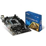 MSI Intel Skylake B150 LGA 1151 DDR4 USB 3.1 Micro ATX Motherboard (B150M Pro-VD)