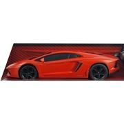 """Luxe Radio Control Black Lamborghini Aventador LP 700-4, 7"""" Full Fuction Radio Controlled, Red Orang"""