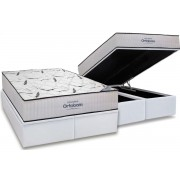 Conjunto Baú Colchão High Foam Ortobom + Cama Box Baú Ortobom Couríno Bianco - Conjunto Box King Size - 186 x 198