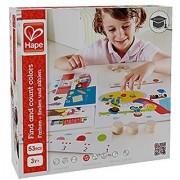 Hape - Home Education - Find and Count Colors Wooden Board Game
