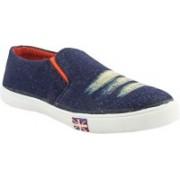 La Shades Sporty Denim Wash Canvas Shoes For Men(Navy)