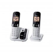 Teléfono Inalámbrico Panasonic Contestadora Digital y Extensión KX-TGC222S-Plata