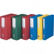 Scatole portaprogetti in polipropilene Leonardi Plus - 194896 Scatole porta progetti dorso 12 cm con formato esterno 25,5x35,5 cm e formato utile 25x35 cm di colore azzurro in ppl in confezione da 5 pz.