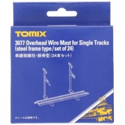 TOMIX Overhead Wire Mast for Single Tracks (Steel Frame Type/Set of 24) (Tomica PlaRail Model Train)