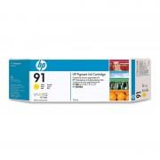 HP 91 Pigment Yellow Ink Cartridge, 775ml (C9469A)