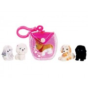Series 2: Puppy In My Pocket - Pink Pouch with 5 Puppies - Just Play