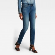 G-star RAW Femmes Jeans Midge Saddle Straight Bleu moyen